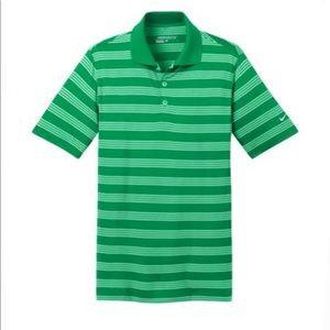 Nike Golf Dri-Fit Green Striped Polo Shirt sz 2XL